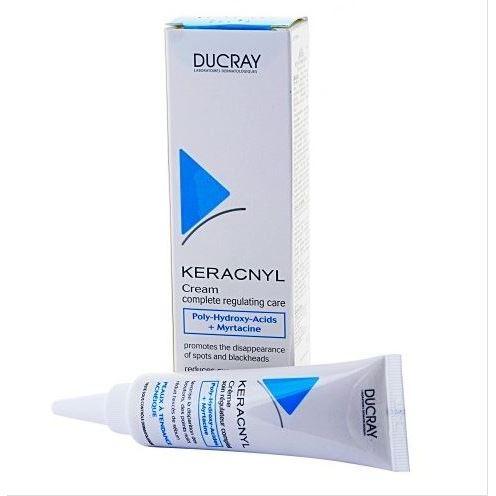 цена на Набор Ducray Керакнил Крем (Набор: крем д/жирной кожи регулирующий, 30 мл + гель очищающ.д/лица и тела, 40 мл)