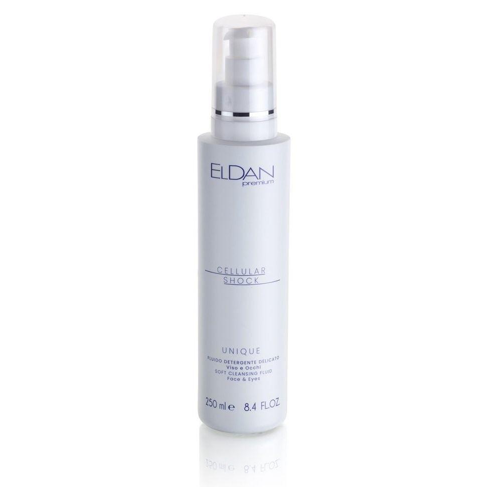 Жидкость Eldan UNIQUE Soft Cleansing Fluid Fase & Eyes 250 мл eldan интенсивная жидкость гидро с eldan hydro c eld 17 1 7 мл