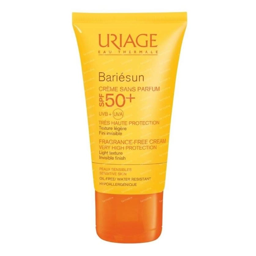 Крем Uriage Bariesun Fragrance-Free Cream SPF 50+ 50 мл тональный крем uriage bariesun tinted cream spf 50 50 мл