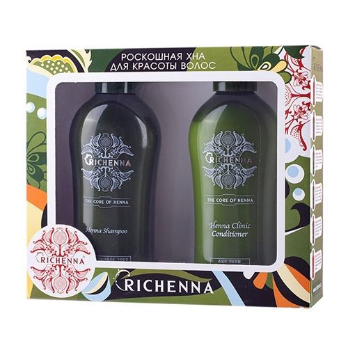 Набор Richenna Richenna CLINIC (Набор: шампунь 200 мл + кондиционер 200 мл) кондиционер richenna henna therapy conditioner