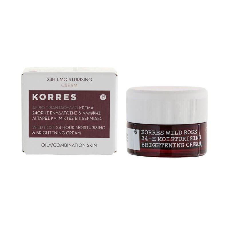 Крем Korres Wild Rose 24-Hour Moisturizing Cream скраб korres wild rose exfoliating cleanser brightening объем 150 мл