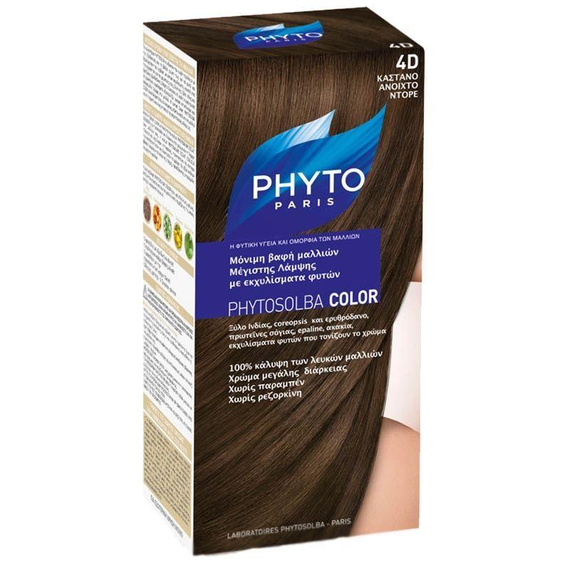 Краска для волос Phyto 4D Светло-Золотистый Шатен (Phyto Color - 4D) фонарь maglite 4d черный 37 4 см в блистере 947163