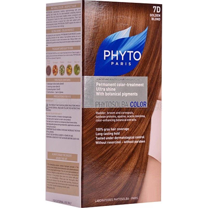 Краска для волос Phyto 7D Золотистый Блонд (Phyto Color - 7D) phyto фито фитоколор краска для волос набор 9 очень светлый блонд