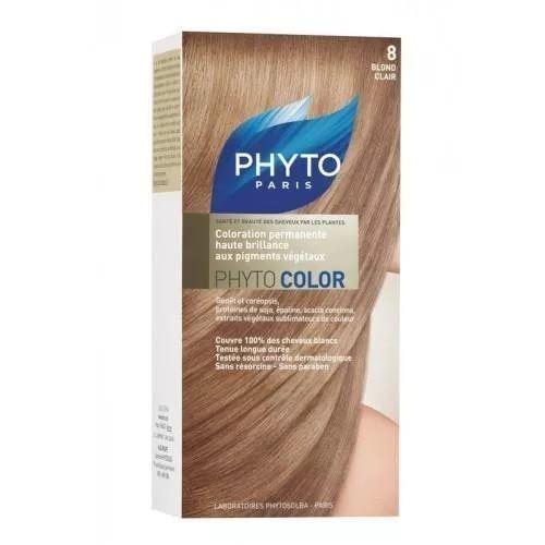 Краска для волос Phyto 8 Светлый Блонд (Phyto Color - 8) phyto фито фитоколор краска для волос набор 9 очень светлый блонд