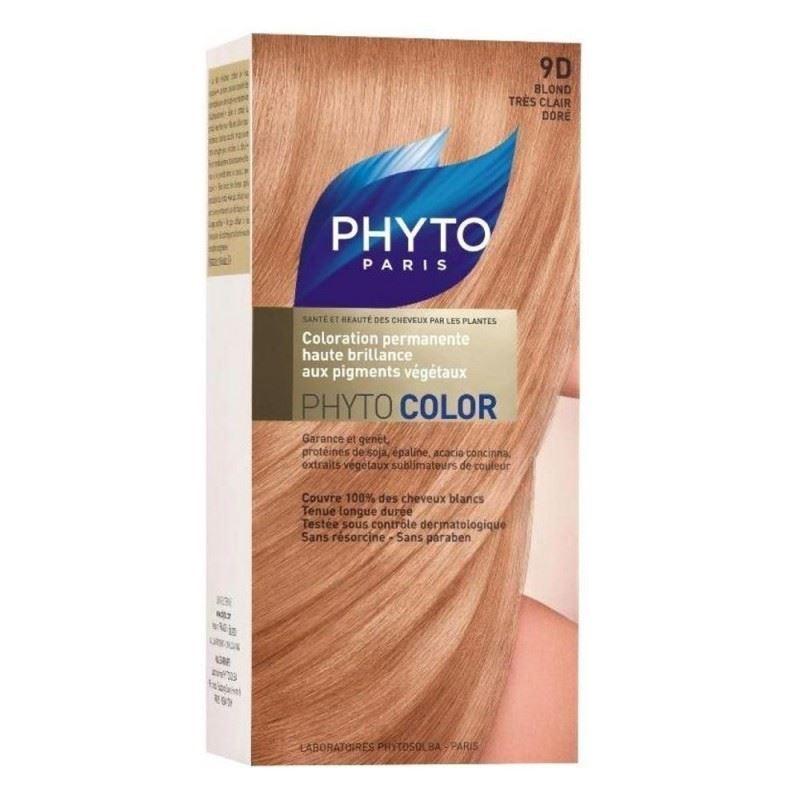Краска для волос Phyto 9D Очень Светлый Золотистый Блонд (Phyto Color - 9D) phyto фито фитоколор краска для волос набор 9 очень светлый блонд