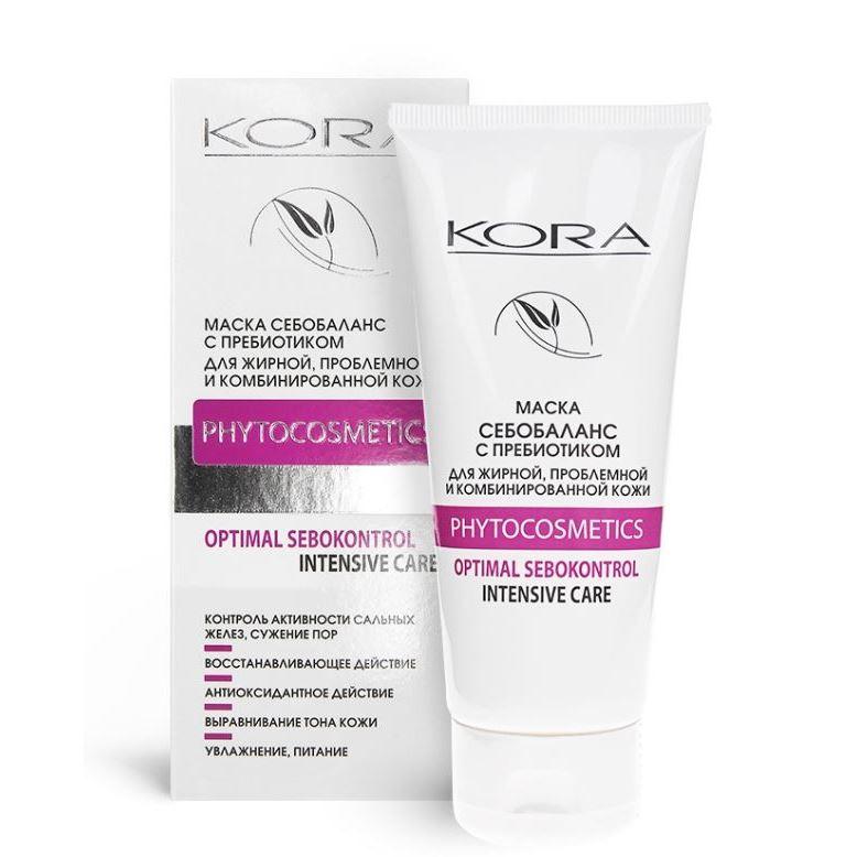 Крем KORA Маска себобаланс для проблемной кожи пенка kora мусс для очищения проблемной и жирной кожи с пребиотиком объем 160 мл