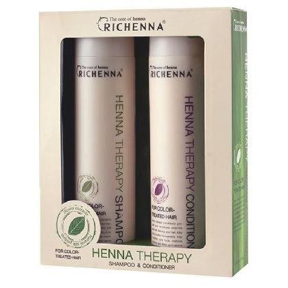 Набор Richenna Henna Therapy (Набор: шампунь 500 мл + кондиционер 500 мл) color therapy шампунь для окрашенных волос color therapy шампунь для окрашенных волос 355 мл