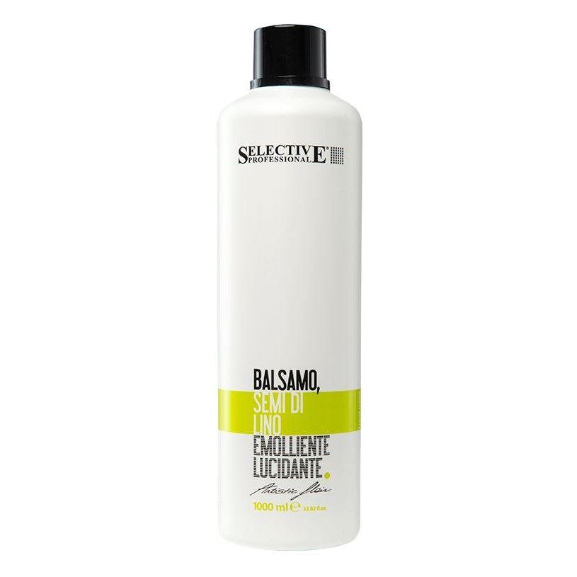Бальзам Selective Professional Balsamo Semi di Lino 1000 мл лосьоны black professional line восстанавливающий лосьон в ампулах с экстр семян льна semi di lino hair ampoules 12 ам по 10 мл