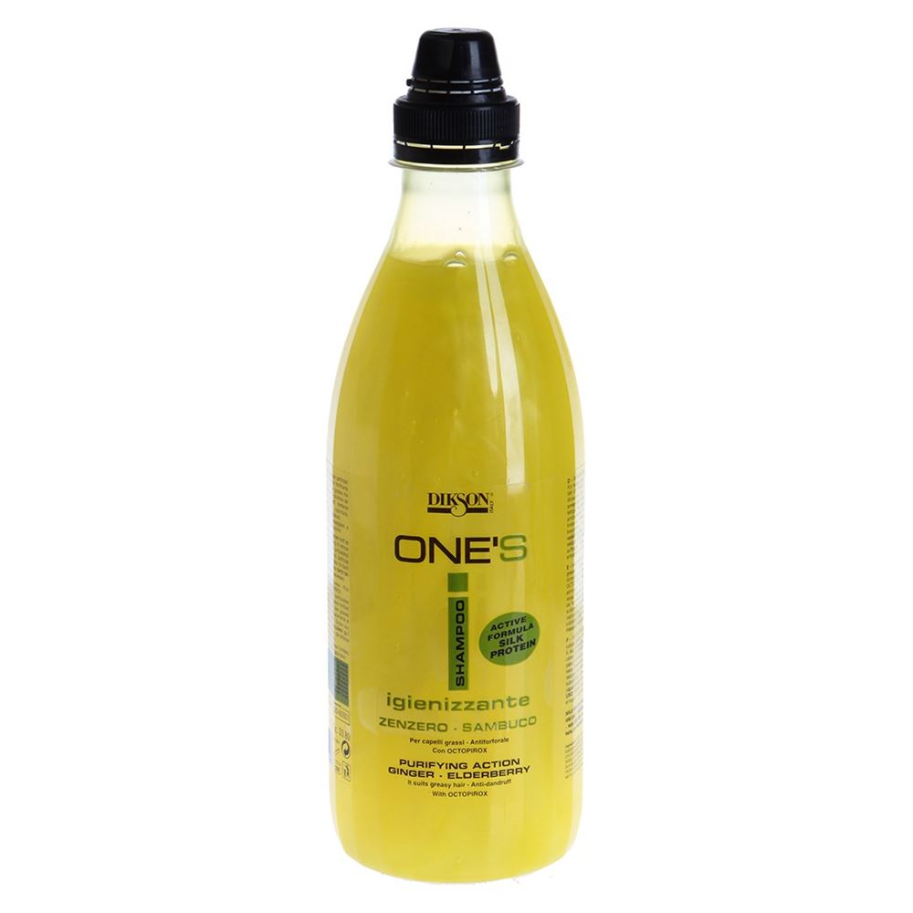 Шампунь Dikson One's Shampoo Igienizzante 1000 мл dikson one's очищающий шампунь от перхоти имбирь бузина shampoo igiеnizzante 1000 мл