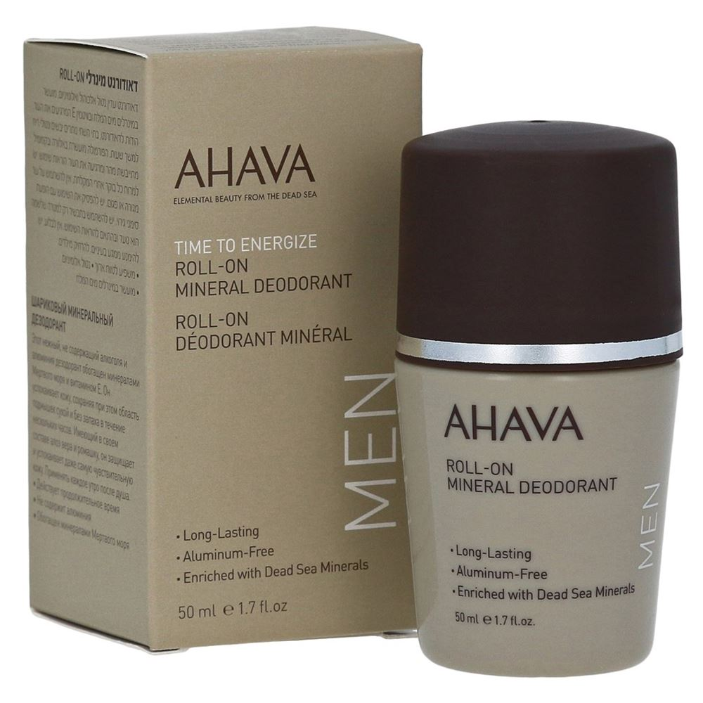 цена на Дезодорант Ahava Roll-On Mineral Deodorant For Men 50 мл