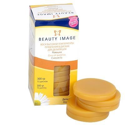 Воск Beauty Image Воск в дисках Ромашка (400 гр) воск beauty image парафин персик 500 гр