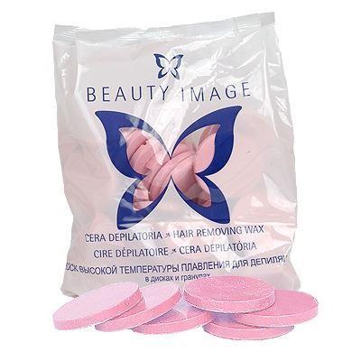 Воск Beauty Image Воск в дисках Стандарт Розовый (1000 гр) воск beauty image горячий воск в дисках стальной 1000 гр
