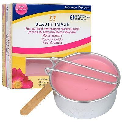 Воск Beauty Image Воск в металлической упаковке Мускатная Роза (100 гр) воск beauty image воск в кассетах розовый 145 гр