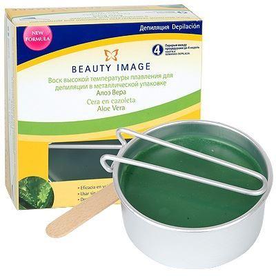 Воск Beauty Image Воск в металлической упаковке Алое Вера (100 гр) воск beauty image воск в дисках экстра белый 1000 гр