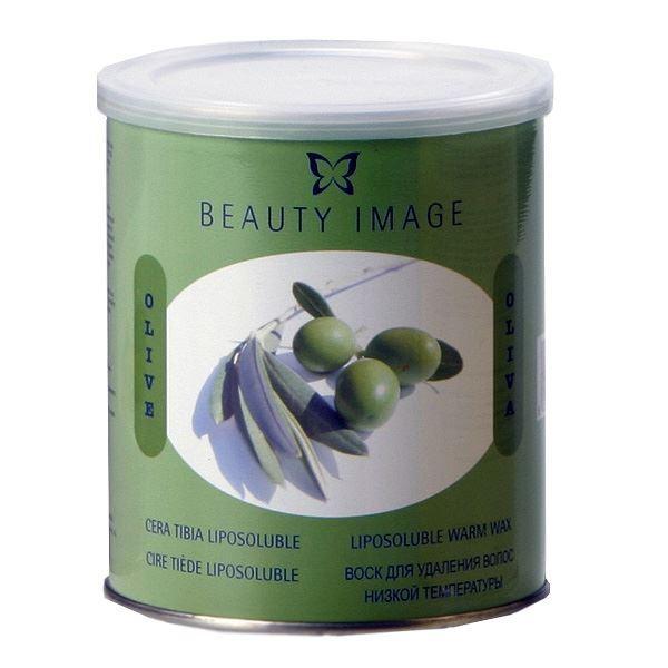 Воск Beauty Image Воск в банке с маслом Оливы  (800 гр) воск beauty image парафин персик 500 гр