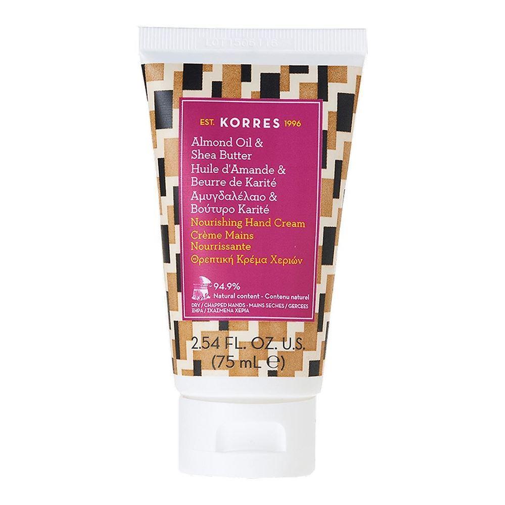 Крем Korres Hand Cream Almond Oil & Shea Butter 75 мл skinfood shea butter perfumed hand cream honey scent крем для рук парфюмированный 30 мл