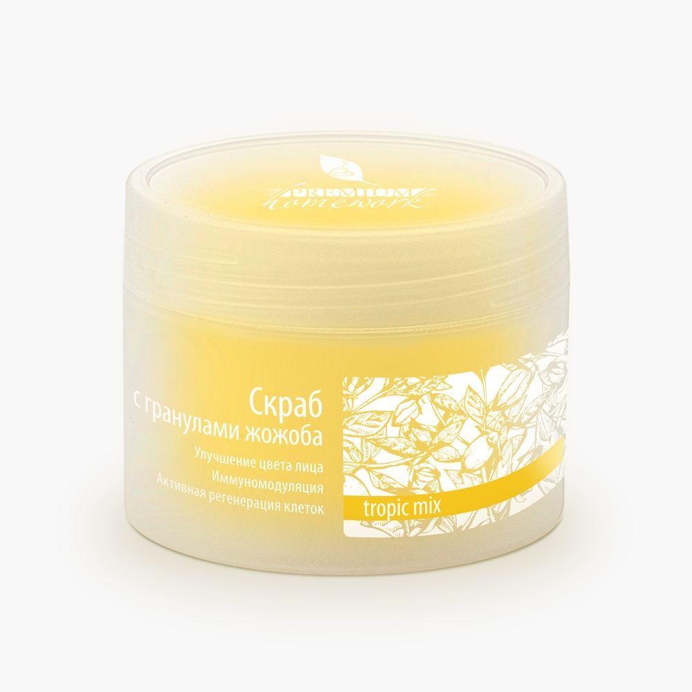 Скраб Premium Скраб с гранулами жожоба janssen dry skin мягкий скраб для лица с гранулами жожоба mild face rub 50мл 200мл объем 50 мл