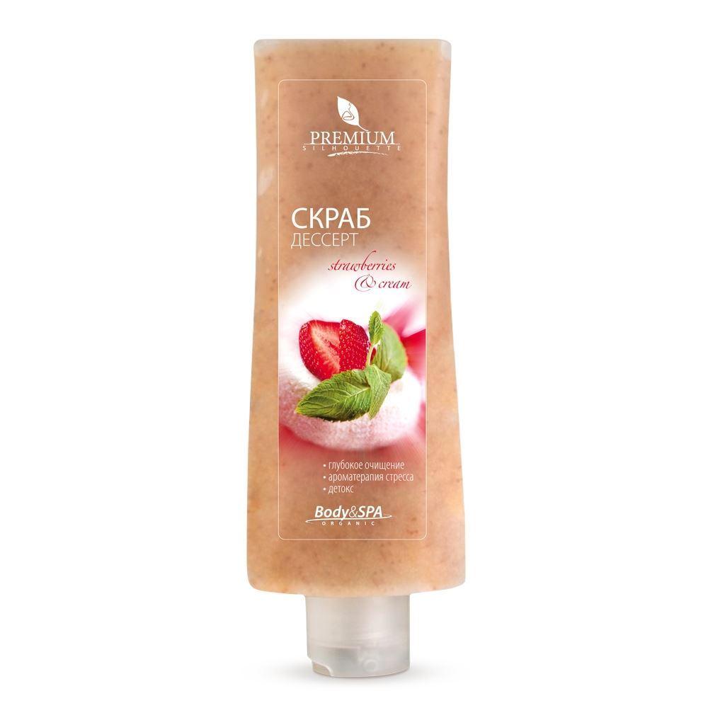 Скраб Premium Скраб-дессерт Strawberry & Cream 200 мл юбка strawberry witch lolita sk