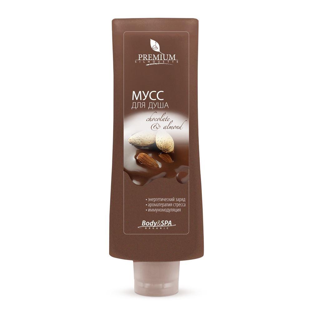Гель для душа Premium Мусс для душа Chocolate & Almond 200 мл минеральный гель для душа deadsea water 200 мл