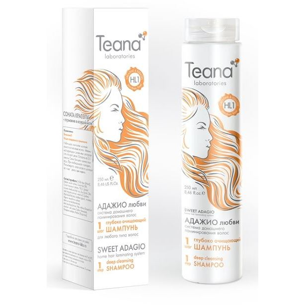 Шампунь Teana ШАГ1 Шампунь  250 мл спрей гель для укладки волос wella design boost it супер сильная фиксация 150 мл