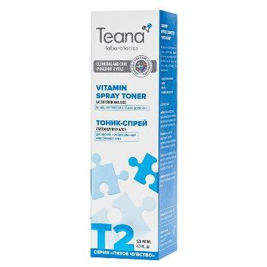 Спрей Teana T2 Тоник-спрей nourish тоник спрей balance с экстрактом яблока для кожи смешанного типа 100 мл