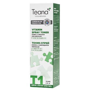 Спрей Teana T1 Тоник-спрей nourish тоник спрей balance с экстрактом яблока для кожи смешанного типа 100 мл