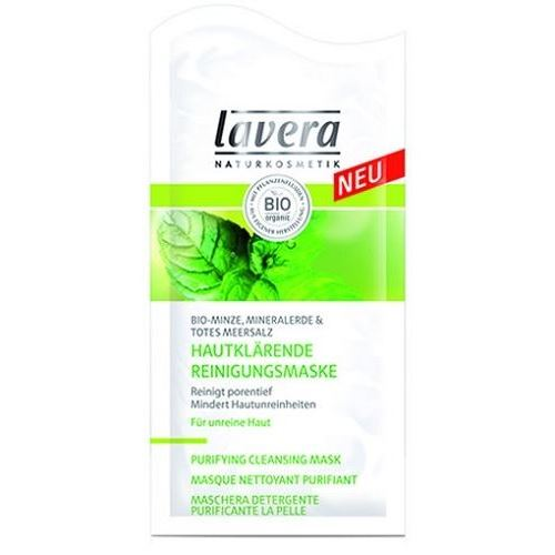 Маска Lavera Purifying Cleansing Mask Organic Mint, mineral clay & dead sea salt дезодорант lavera organic orange
