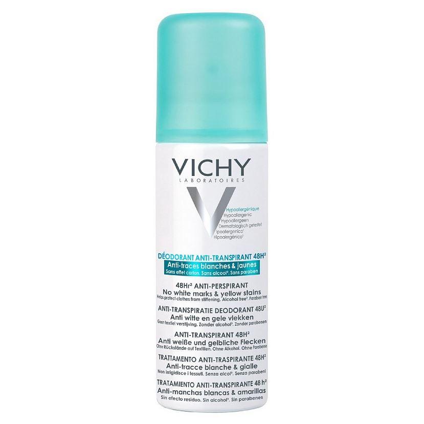 Дезодорант VICHY Дезодорант-спрей 48 ч. против белых следов 125 мл виши дезодорант шарик 48ч против белых и желтых пятен 50мл