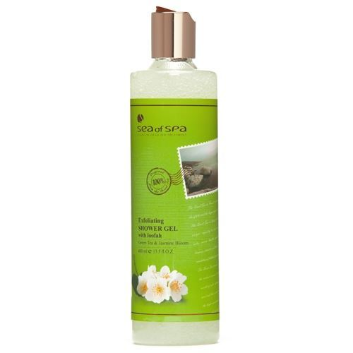 Sea of SPA Exfoliating Shower Gel Green Tea & Jasmine free shipping 2015 yr new tea premium jasmine pearl tea jasmine longzhu flower tea green tea 250g bag vacuum packaging