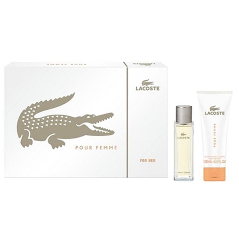 Набор Lacoste Lacoste Pour Femme Gift Set (Набор: п/в 50 мл + лосьон д/тела 100 мл) lacoste туалетная вода pour elle natural lacoste 30 мл
