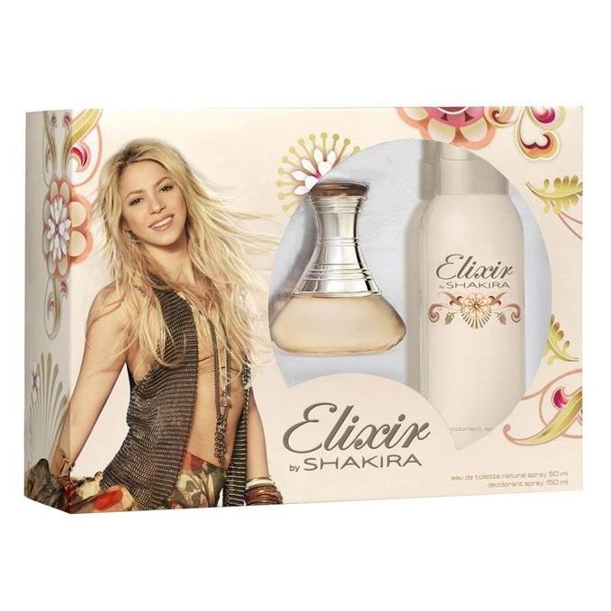 Набор Shakira Elixir by Shakira Gift Set 2 (Набор: т/в 50 мл + дезодорант 150 мл) туалетная вода shakira shakira s by shakira kiss туалетная вода 50 мл