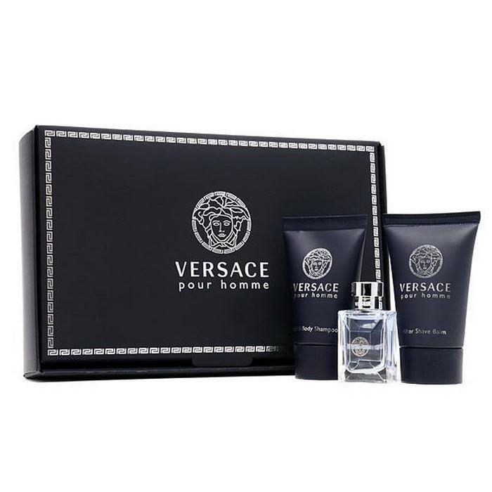 Набор Versace Versace Pour Homme Gift Set (Набор: т/в 50 мл + бальзам п/бритья 50 мл + гель д/душа 50 мл) венозол гель 50 мл