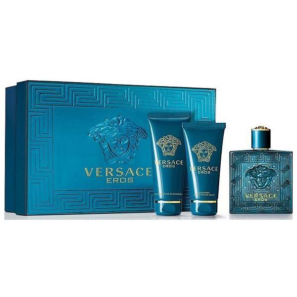 Набор Versace Eros Gift Set 3 (Набор: т/в 50 мл + гель д/душа 50 мл + бальзам п/бритья 50 мл) венозол гель 50 мл
