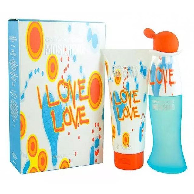 Набор Moschino Cheap & Chic Moschino I Love Love Gift Set (Набор: т/в, 30 мл + лосьон д/тела (туба), 50 мл) туалетная вода moschino i love love объем 30 мл вес 80 00