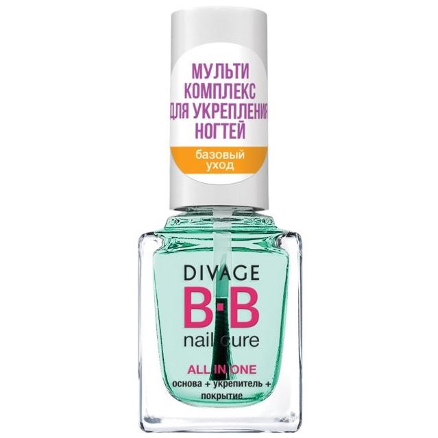 Лак Divage BB Nail Cure All in One (All in One) концентрат divage bb nail cure nail polish gel remuver 120 мл
