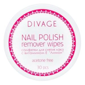 Салфетки Divage Nail Polish Remover Wipes (30 шт) жидкость divage nail polish remover green tea зеленый чай