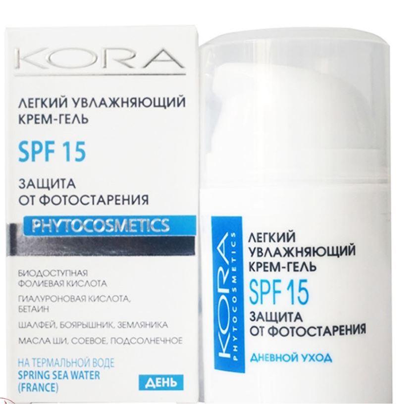 Гель KORA Крем-гель увлажняющий SPF15 50 мл крем kora крем антицеллюлит форте 150 мл