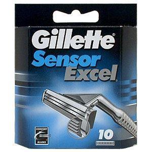 Кассеты Gillette Sensor Excel - 10 Сменных Кассет (10 шт)