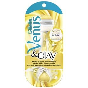Набор: Бритва Gillette Venus & Olay Бритвенный Станок (Набор: 1 станок + 2 сменные кассеты + косметичка) недорого
