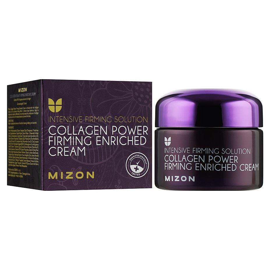 Крем Mizon Collagen Power Firming Enriched Cream 50 мл mizon enjoy fresh on time revital lime hand cream крем для рук с экстрактом лайма 50 мл