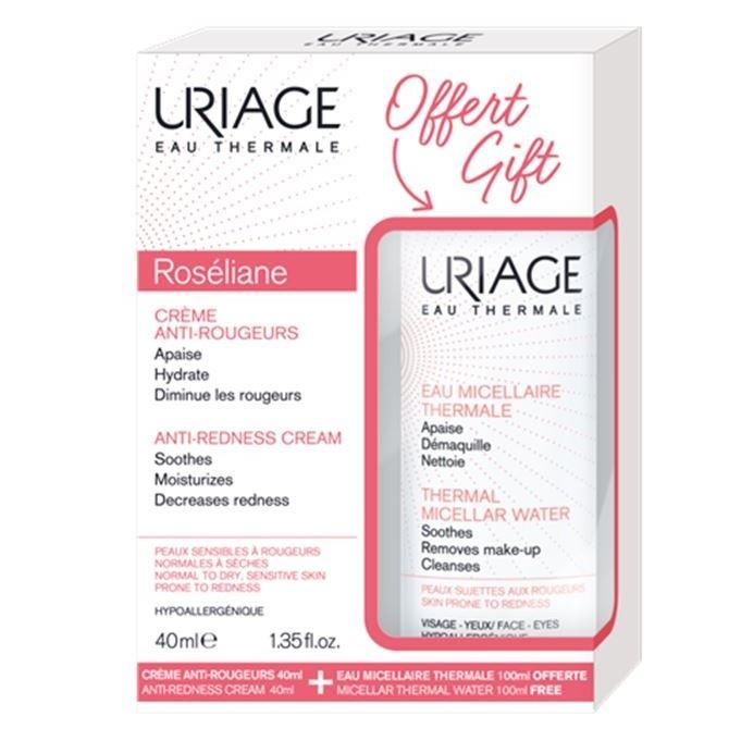 Набор Uriage Roseliane Gift Set (Набор: крем, 40 мл + мицеллярная вода, 100 мл) набор крем uriage baby travel kit набор