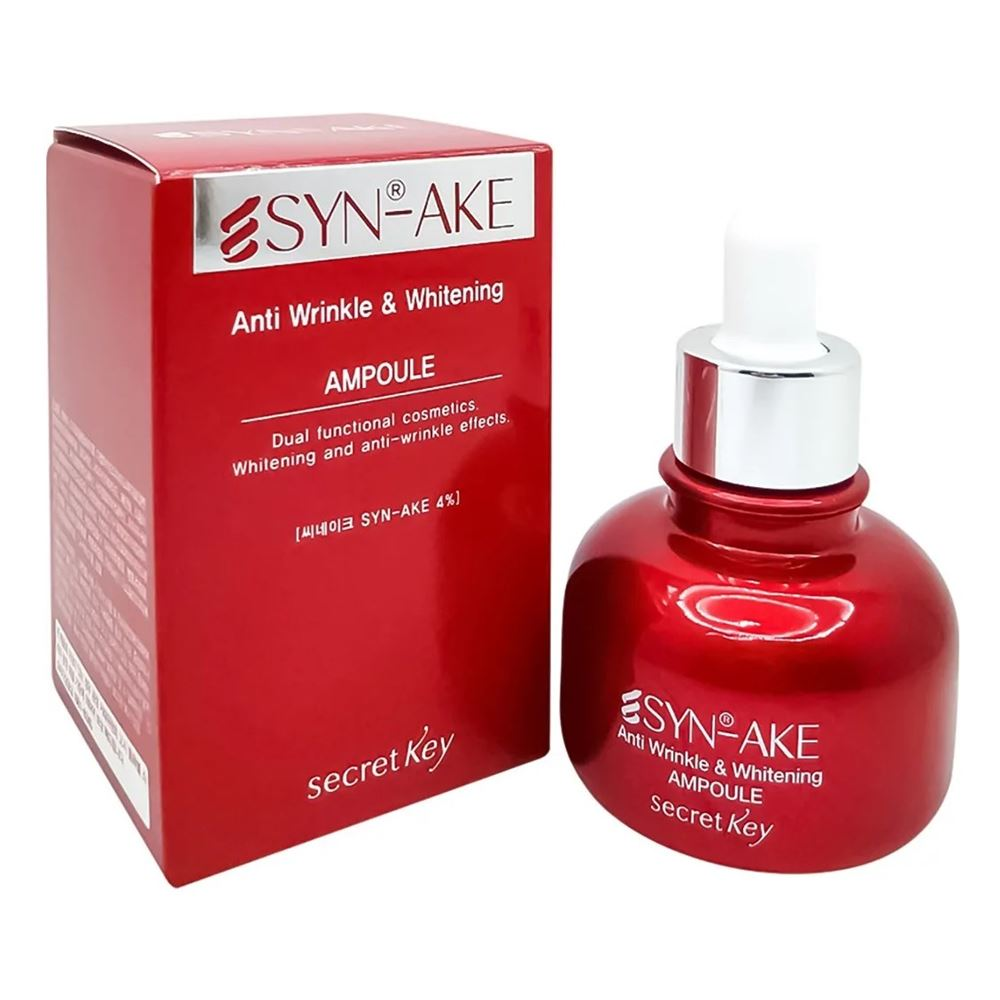 Сыворотка Secret Key SYN-AKE Anti Wrinkle & Whitening Ampoule secret key