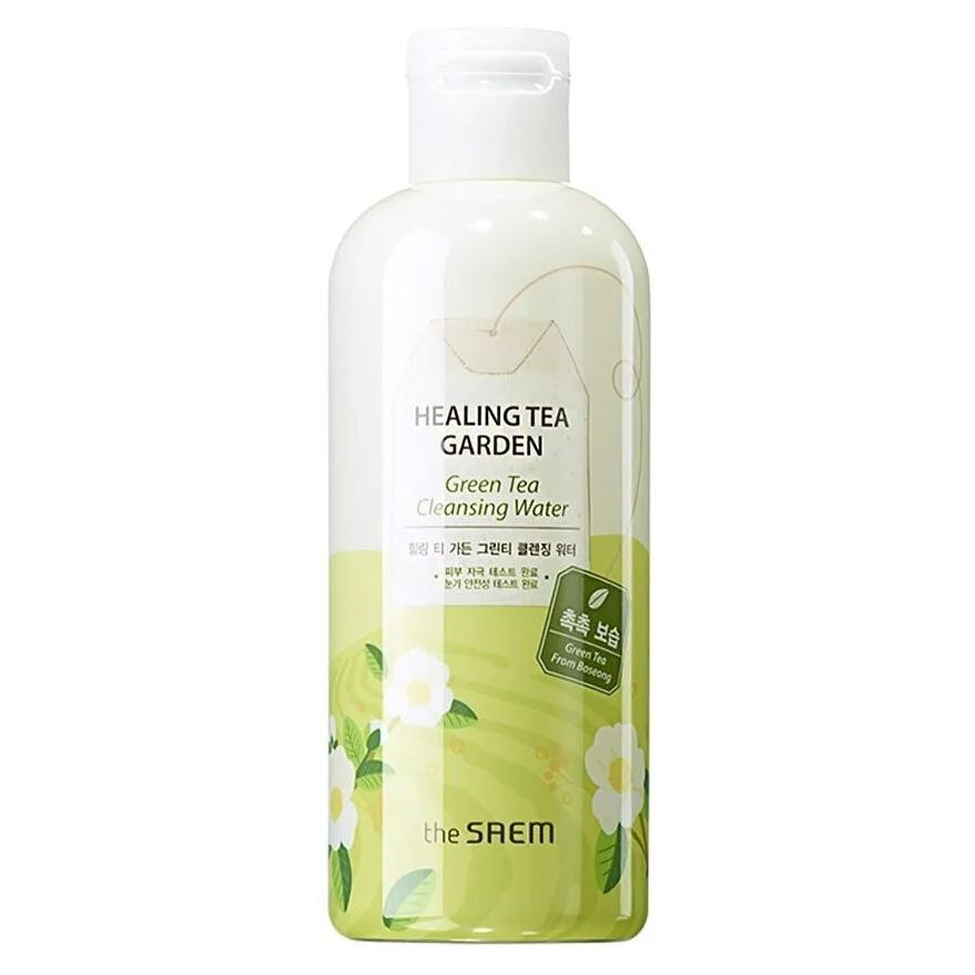 Вода The Saem Healing Tea Garden Green Tea Cleansing Water 300 мл the yeon canola honey polish water вода увлажняющая для лица 270 мл