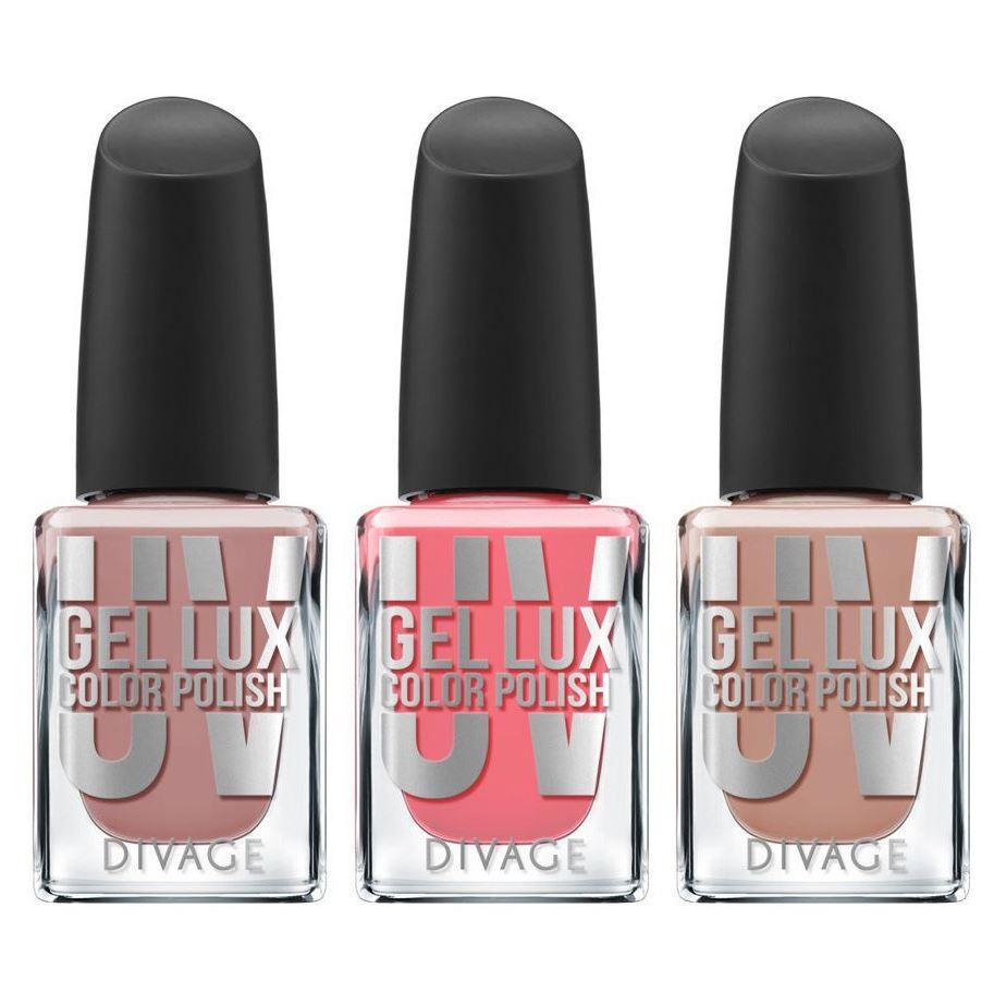 Лак для ногтей Divage Uv Gel Lux (Top Coat Plumping ) лаки для ногтей isadora лак для ногтей гелевый gel nail lacquer 247 6 мл