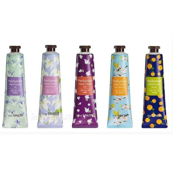 Крем The Saem Perfumed Hand Cream (Iris) the yeon soapy hand perfume clean крем для рук парфюмированный 30 мл