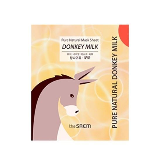 Маска The Saem Pure Natural Mask Sheet Donky Milk 22 мл the saem pure natural mask sheet donky milk
