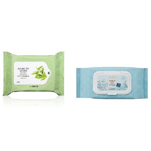 Салфетки The Saem Healing Tea Garden Cleansing Tissue (Tea Tree, 260 г) салфетки бранолинд где в аптеках г омска