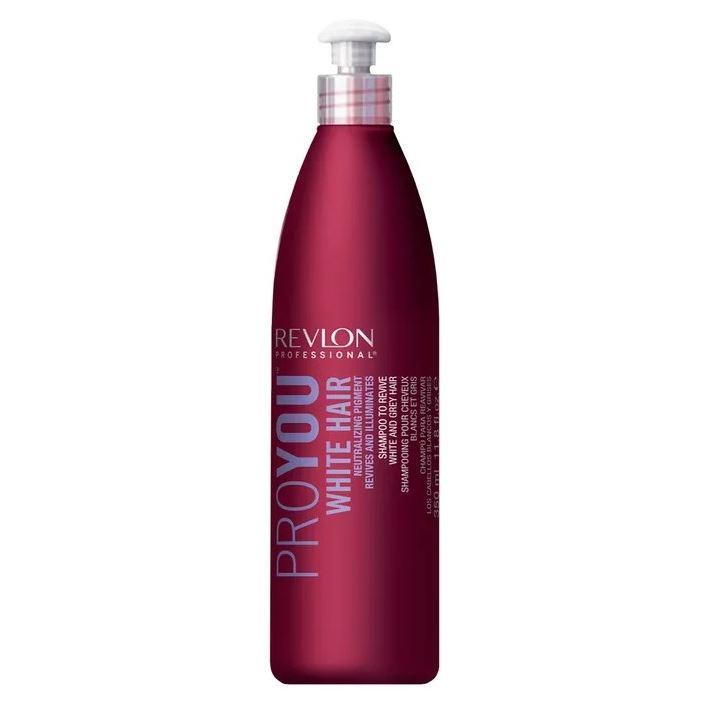 Шампунь Revlon Professional White Hair Shampoo 350 мл selective professional power shampoo серебряный шампунь для седых волос 250 мл