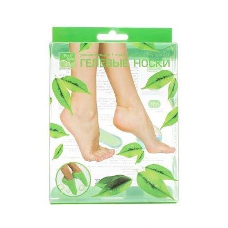 Маска Beauty Style Гелевые носочки увлажняющие с экстрактом зеленого чая (1 пара) beauty image баночка с воском с маслом оливы 800гр