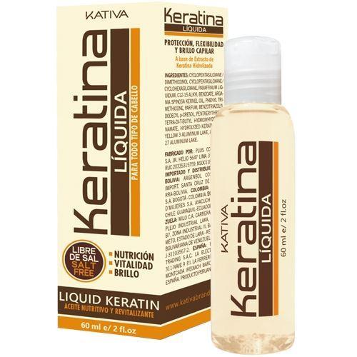 Концентрат Kativa Жидкий кератин 60 мл сыворотка флюид kativa восстанавливающий защитный концентрат для волос kativa 4 масла argan oil 120мл